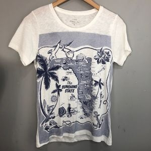 J.Crew Collector Tees The Sunshine State Florida